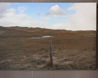 20x30 Sandhills Nebraska Barbed Wire Landscape
