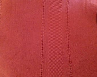 Coupon rust cotton canvas fabric