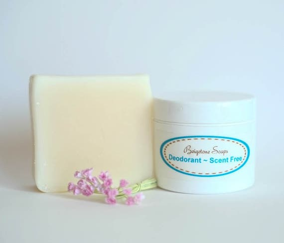 Unscented Soap and Deodorant   HYPOALLERGENIC   Aluminum and Paraben Free