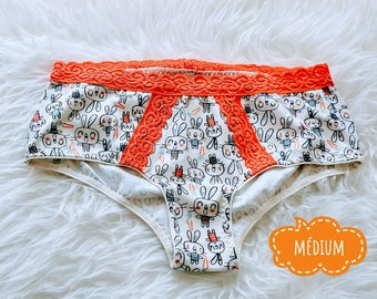 Mature with pink rabbit and orange panties