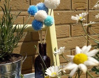 POM POM BOUQUET, wool, bunch of, gift, for her, home decoration, accessory, present, thank you, sorry
