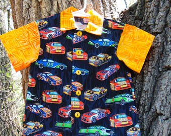 Boys Collared Race Car Shirt