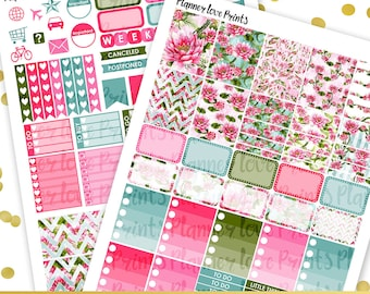 50%off LOTUS PRINTABLE Planner Stickers | Instant Download | Pdf and Jpg Format