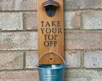 Beer Bottle Opener with Bucket