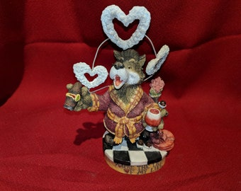 "1997 Enesco ""You're The Light Of My Life"" Wolf Hearts Figurine by Moose Creek Crossing 282146 1997"
