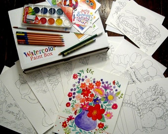 Watercolor Paint Box One Year Subscription