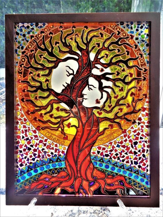 baum der liebe kunst malerei baum des lebens stammbaum gemalt. Black Bedroom Furniture Sets. Home Design Ideas