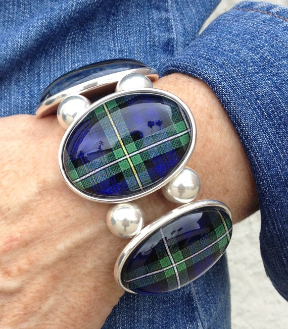 Campbell Tartan Five-Cameo Stretch Bracelet