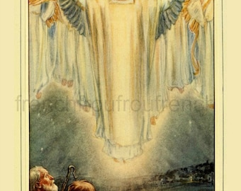 antique victorian illustration all glory angels DIGITAL DOWNLOAD