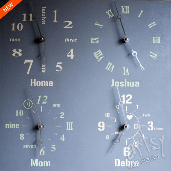 Wall Clocks for Sale Multiple Time Zone Wall Clock Four