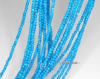 2MM Queen Turquoise Howlite Gemstone Round 2MM Loose Beads 16 inch Full Strand (90113605-107 - 2mm C)