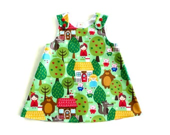 Baby A-line dress - girls A-line dress - A-line dress - baby dress - red riding hood - goldilocks - pinafore - fairytale dress -