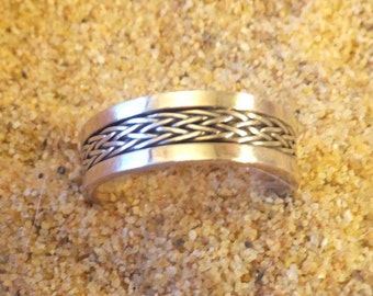 Sterling Silver Braided Band....size 13 only