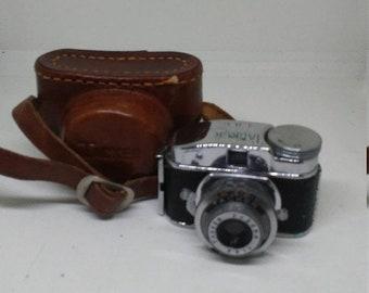 Spring Sale Vintage Rare 1946 Tacker Miniature Camera & Case