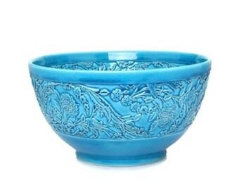 Decorative turkuaz handmade bowl
