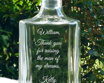 Father of the Bride Gift, Father Daughter Gift, Father in Law Gift, Father of the Groom, Personalized Engraved Decanter, Father's Day Gift