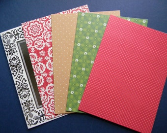 Assorted Christmas Card Bases and Envelopes (586)