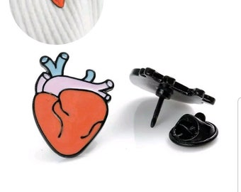 Anatomical heart pin. Nursing pin pinning ceremony pins. Nursing Graduation gifts! Nurse LPN pins. Medical lapel pin. Bridesmaids gift. Love