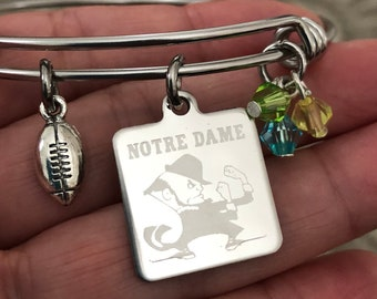 Notre Dame Fighting Irish bracelet-College bracelet
