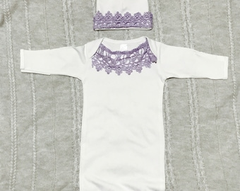 Baby lace sleep gown