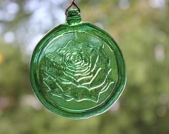 Green Rose Suncatcher