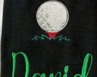 Embroidered Golf Towel -David Ready to Ship