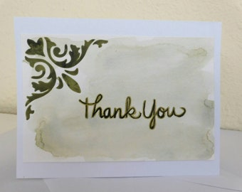 Green Thank You Card
