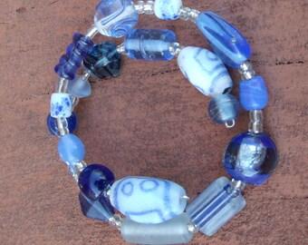 Royal Blue Multi-Beaded Bracelet
