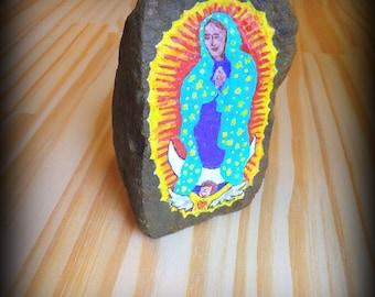 Virgin of Guadalupe Stone Art