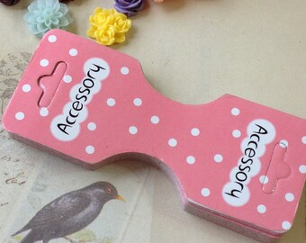 """90 x 38 mm Pink Color """"Handmade Product"""" Paper Hang Tags (.mn)"""