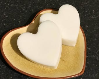 Heart shaped Goat's Milk Soaps without colour or fragrance oil