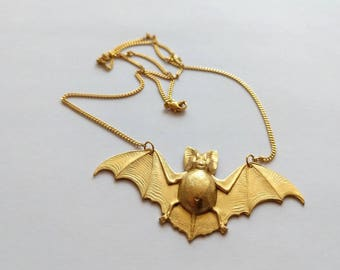 Bat necklace