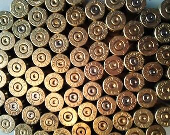 Set of 4 Bullet Casings! .45 Caliber, Gold Tone, Polished! Empty Spent Ammo Cartridge Shells