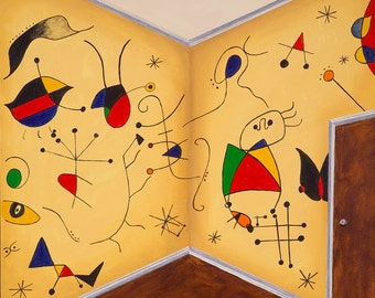 Miro Miro on the Wall // Joan Miro pun art print