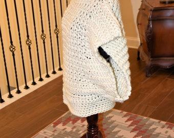 Beige Cowl BOHO Crochet Sweater/ Accessory/ Winter wear/ Birthday Gift/ Christmas Gift/ Gift for Her/ Gift for Mom/ Girlfriend