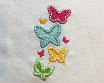Butterfly baby onesie, infant bodysuit, toddler shirt, made to order