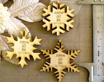 160 Snowflake Wedding Favors  Winter Fantasy Wedding Hygge