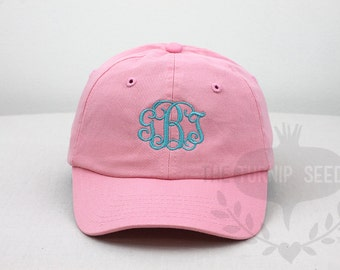 YOUTH Monogram Baseball Cap - Custom Color Hat and Embroidery.