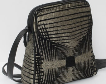SHOULDER BAG  Fabric and LEATHER Good Vibrations by Elizabeth Z Mow