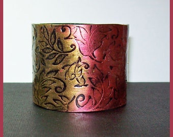 Cuff Bracelet 2 inch Polymer Clay Magnetic Clasp Handmade