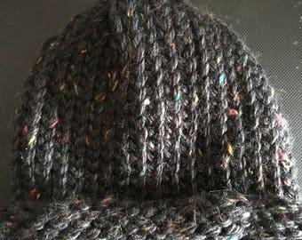 Black Varigated Adult Winter Hat