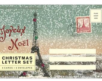 Joyeux Noel Vintage Paris Letter Set Christmas letter set Cavallini