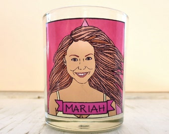 Mariah Carey Glass Votive Candle // LGBTQ Altar Candle