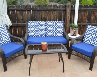 Lovely Patio Cushion COVERS ONLY   Custom Order Only