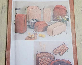 UNCUT Simplicity 9532 Kitchen Appliance Covers PATTERN 1980