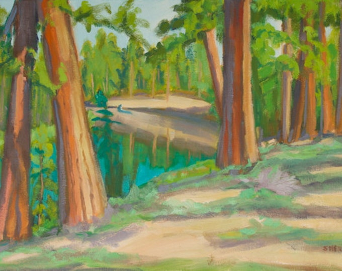Landscape Painting Deschutes River Floating the Morning Central Oregon