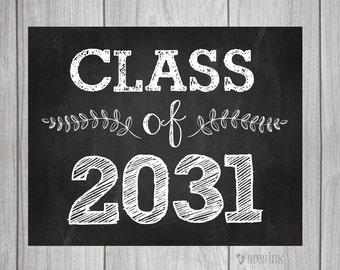 Class of 2031 - Back to School - Teacher Signs - First Day of School Sign- Teacher Signs