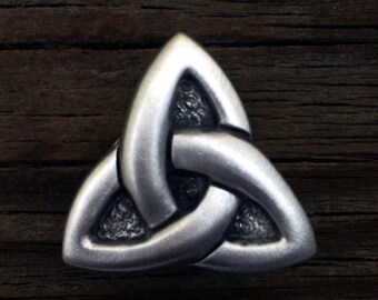 Celtic Triquetra Metal Concho | Celtic Triquetra Knot | Celtic Jewelry | Celtic Knot | Trinity Knot | by Treasure Cast Pewter
