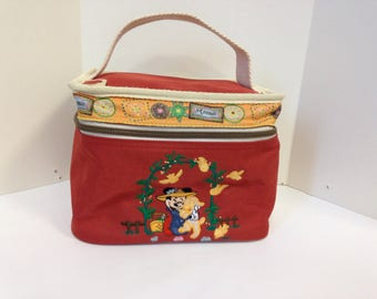 Vintage Minnie Mouse material vanity case
