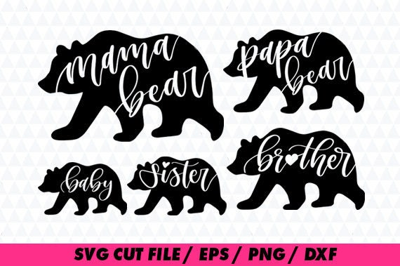 mama bear svg files papa bear clipart brother clipart sister bear rh etsystudio com Owl Clip Art Monogram Sister Bear SVG